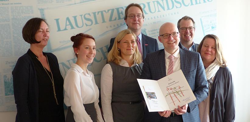 Auszeichnung als Demografie-Beispiel – PLANBAR der Lausitzer Rundschau